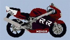 Honda Fireblade 1998 Motorcycle Cross Stitch Chart