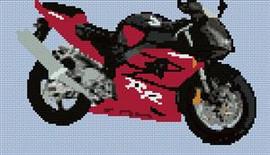 Honda Fireblade 2003 Motorcycle Cross Stitch Chart