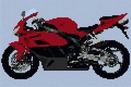 Honda Fireblade 2004 Motorcycle Cross Stitch Chart