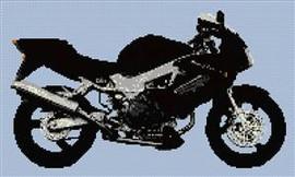Honda Firestorm Motorcycle Cross Stitch Chart