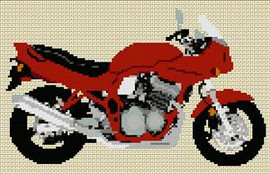 Suzuki Bandit Gsf 600S 1997 Motorcycle Cross Stitch Chart