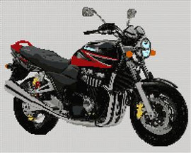 Suzuki Gsx 1400 Motorcycle Cross Stitch Chart