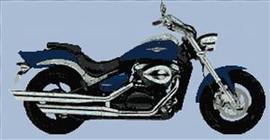 Suzuki Intruder 800 Motorcycle Cross Stitch Chart