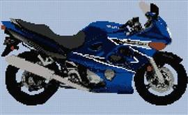 Suzuki Katana Motorcycle Cross Stitch Chart