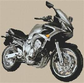 Yamaha Fz6 Fazer Motorbike Cross Stitch Chart