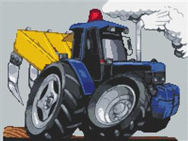 Ford Tractor With Plough Cross Stitch Chart