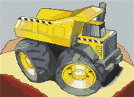 Dumper Truck Cross Stitch Chart