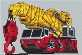 Heavy Lift Crane Cross Stitch Chart