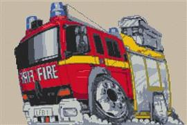London Fire Engine Cross Stitch Chart