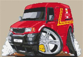 Royal Mail Ldv 200 Van Cross Stitch Chart