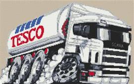 Tesco Fuel Tanker Cross Stitch Chart