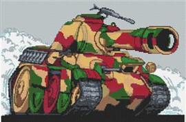 Panther Tank Cross Stitch Chart