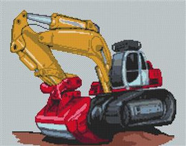 Digger Cross Stitch Chart