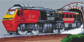 Virgin Intercity Train Cross Stitch Chart