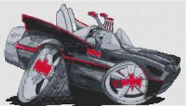 Batmobile 1960S Classic Cross Stitch Chart