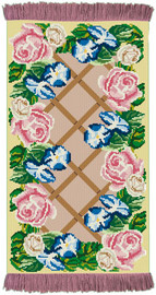 Rose Lattice  Rug/Wall Hanging Cross Stitch Kit