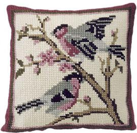 Bullfinches Chunky Cross Stitch Cushion Kit