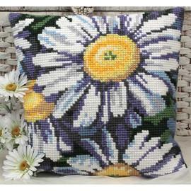 Marguerites Chunky Cross Stitch Cushion Kit