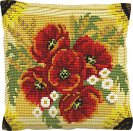 Poppies And Daisies Chunky Chunky Cross Stitch Kit