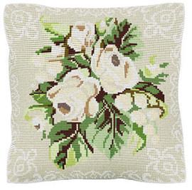White Roses Chunky Cross Stitch Cushion Kit