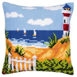 Lighthouse Chunky Cross Stitch Cushion