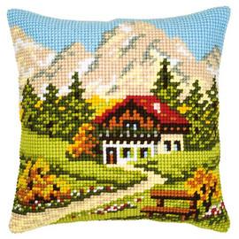 Swiss Cottage Chunky Cross Stitch Kit