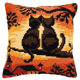 Sunset Two Cats Chunky Cross Stitch Kit