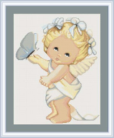Butterfly Angel Petit Cross Stitch Kit By Luca S