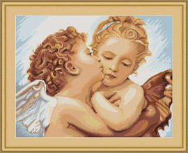 First Kiss - Detailed Petit Cross Stitch Kit By Luca S
