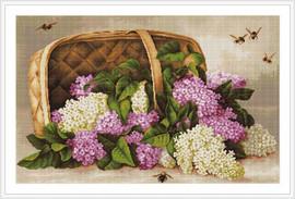 Basket Of Lilacs Petit Cross Stitch Kit By Luca S