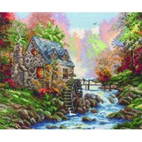 Cobblestone Mill Cross Stitch Kit By Maia