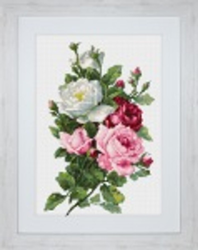 Bouquet of Roses Cross Stitch Kit by Luca-S