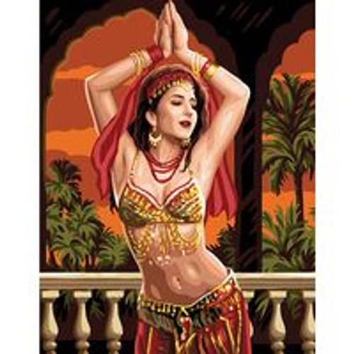 Belly Dancer Tapestry Canvas By Royal Paris
