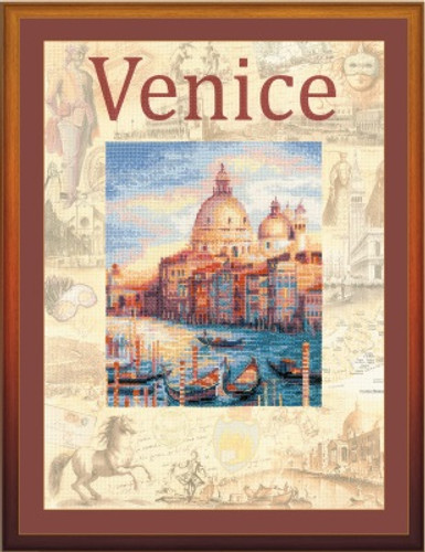 Cities of the World, Venice Cross Stitch Kit by Riolis