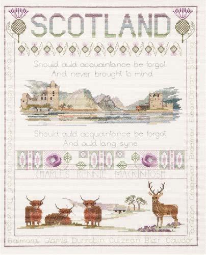 Scotland Sampler Cross Stitch Kit by Derwentwater