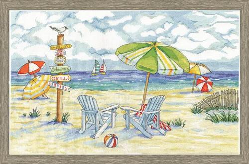 Beach Signs Cross Stitch Kit by Design Works