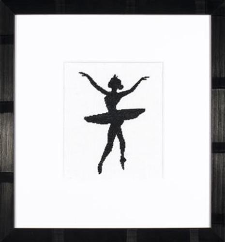 Ballet Silhouette 3 Cross Stitch Kit By Lanarte