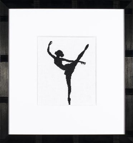 Ballet Silhouette 2 Cross Stitch Kit by Lanarte