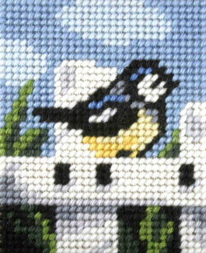 My First Embroidery Needlepoint Kit Blue Tit by Orchidea