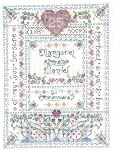 Our Anniversary Cross Stitch Chart By Joan Elliott