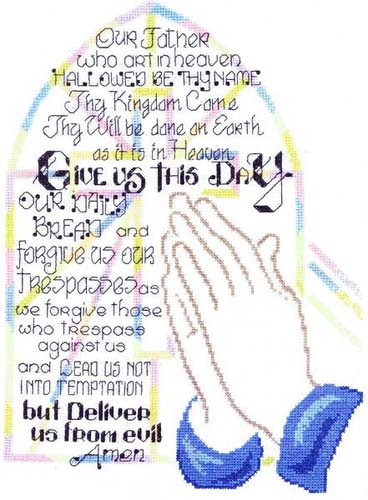 Praying Hands Cross Stitch Chart By Ursula Michael