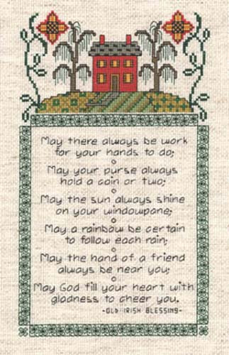Irish Sampler Cross Stitch chart by Dianne Arthurs