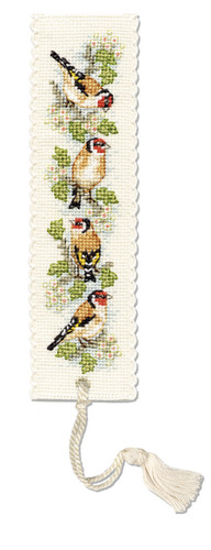 Goldfinches Bookmark Cross Stitch Kit by Textile Heritage