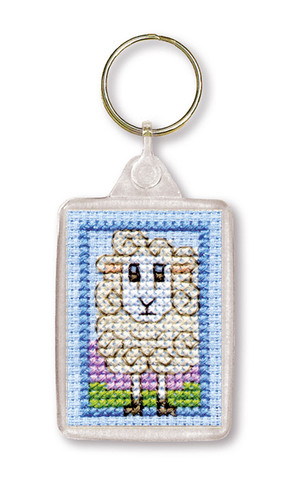 Wee Woolly Sheep Keyring Cross Stitch Kit by Textile Heritage