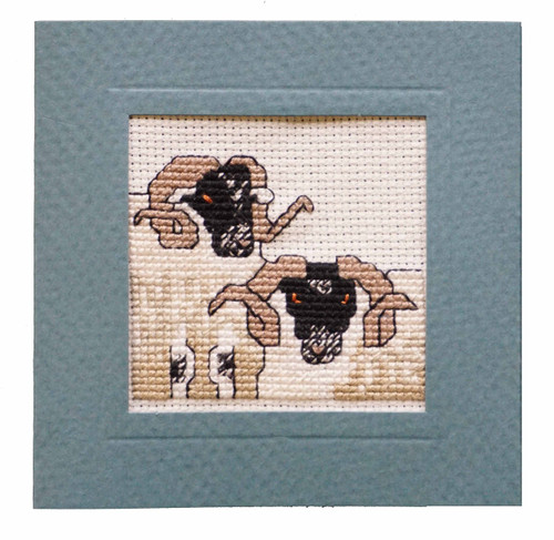 Blackface Sheep Miniature Card Cross Stitch Kit by Textile Heritage