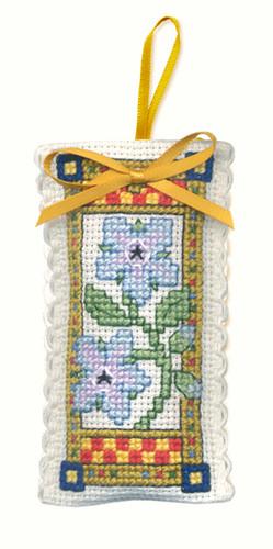 Medieval Garden Sachet Cross Stitch Kit by Textile Heritage