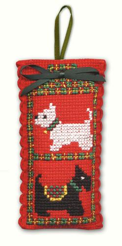 Scotties & Westies Sachet Cross Stitch Kit by Textile Heritage