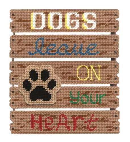 Dogs Leave Paw Prints Plastic Canvas Kit
