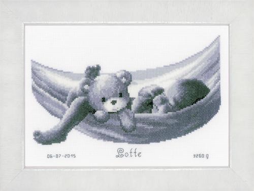 Baby in Hammock Cross Stitch Kit By Vervaco