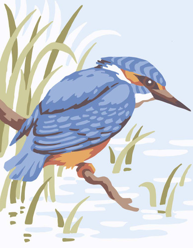 Kingfisher Canvas only By Grafitec
